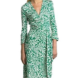 Diane von Furstenberg Justin silk wrap dress